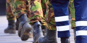 Stiefel Laufender Soldaten
