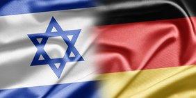 Deutschland und Israel Flagge zusammen