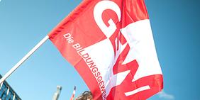 Teaser Fahne Flagge GEW Gewerkschaft Erziehung und Wissenschaft