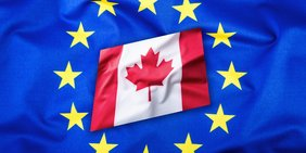 Fahne EU und Kanada