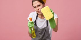 Genervte Hausfrau