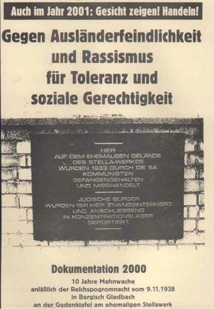 Dokumentation: 10 Jahre Mahnwache in Bergisch-Gladbach (2000)