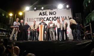 Kundgebung in Madrid mit dem DGB-Vorsitzenden Michael Sommer, am Vorabend des Generalstreiks in Spanien am 29. September 2010