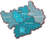 Karte DGB-Region Köln-Bonn