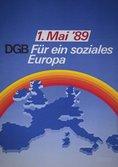 Motiv: Ein Regenbogen über der Europa-Silhouette